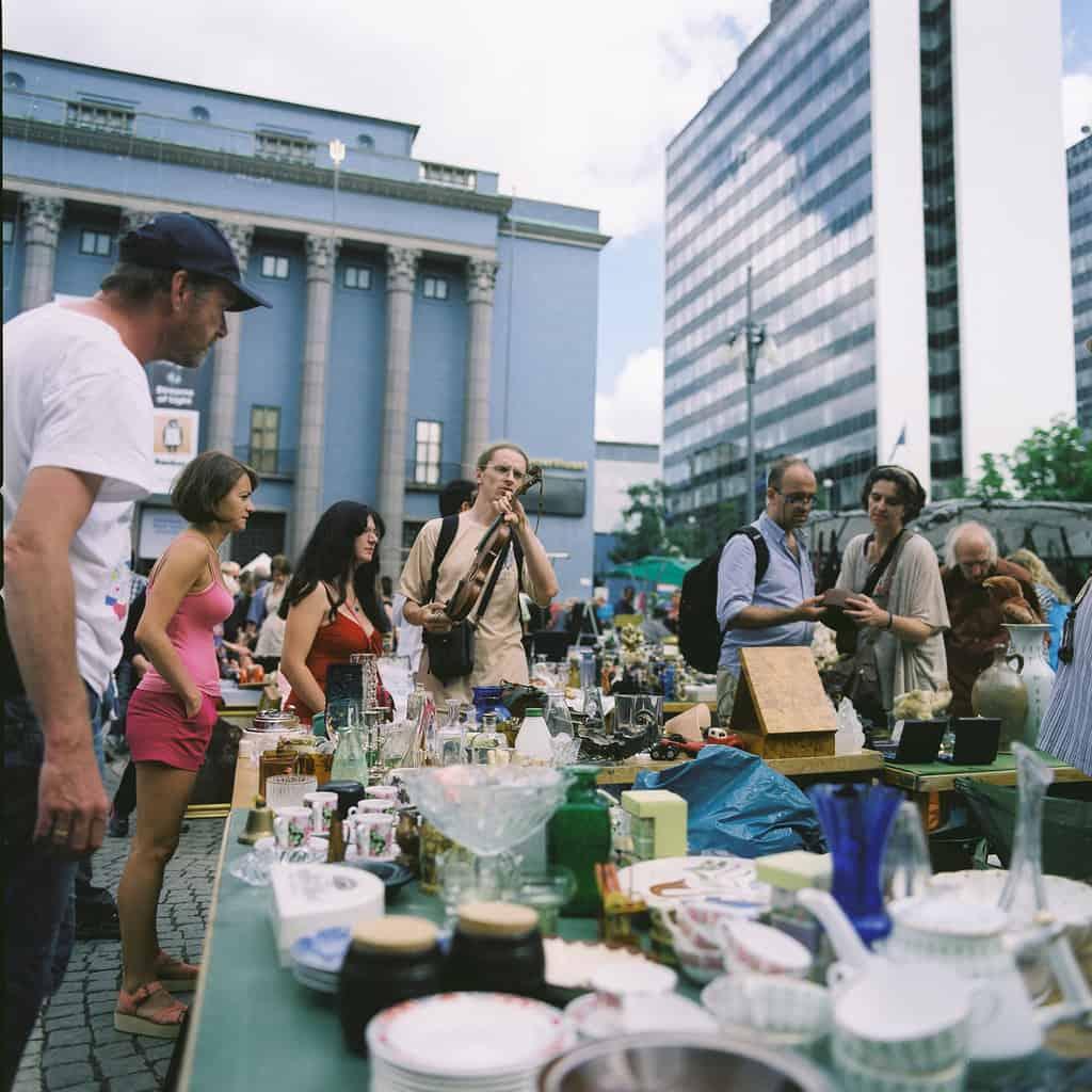 flea market Stockholm - Photo by Jesper Yu