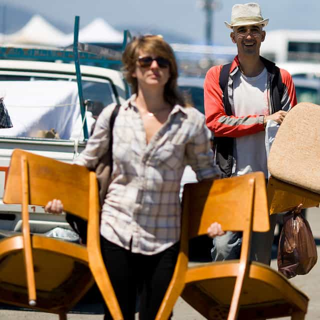 San Francisco Alameda flea market chairs Kanaka Menehune
