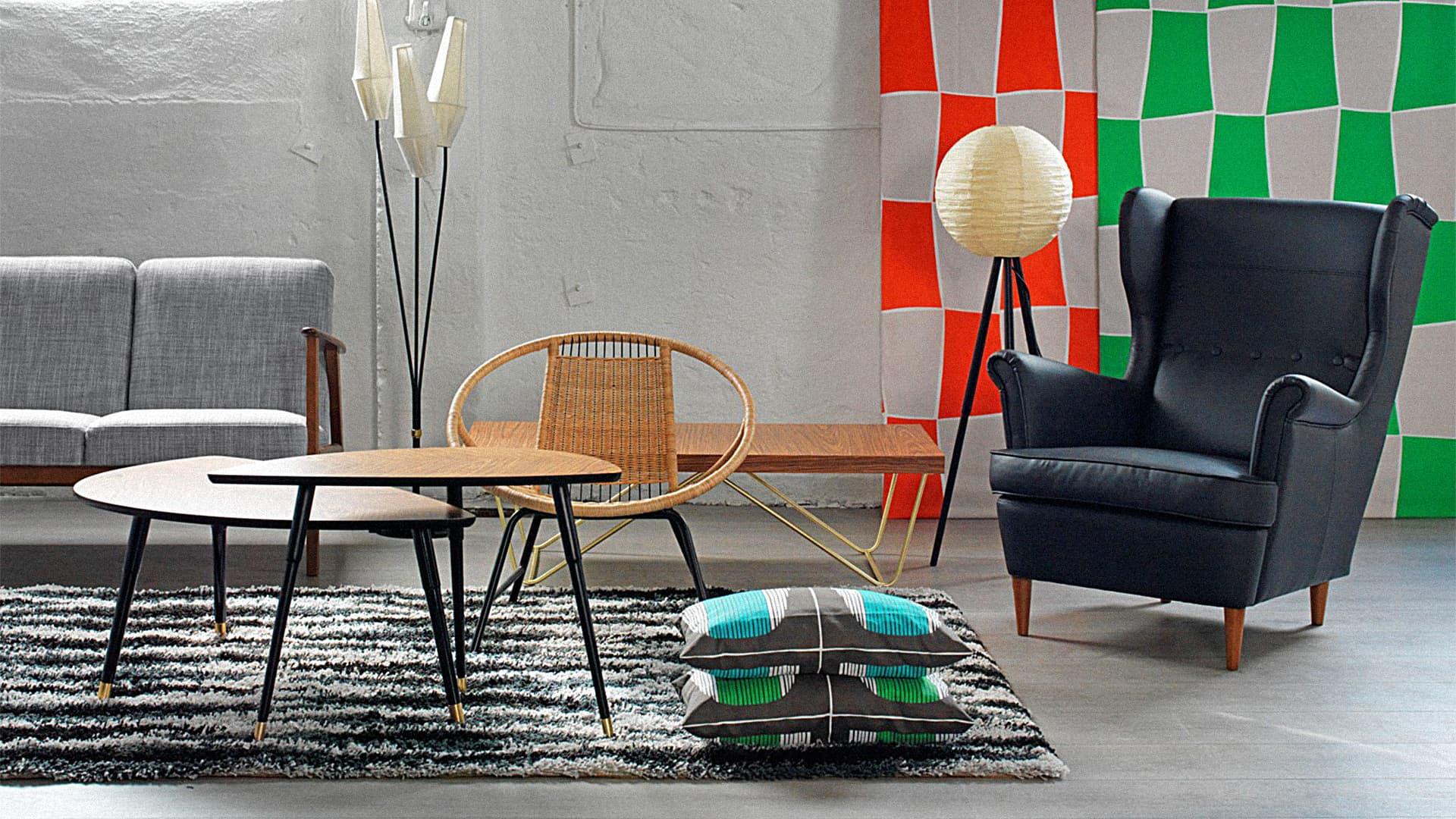 Ikea Original Mid century Furniture reedition vintage design