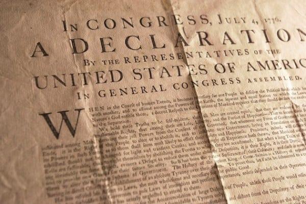 Declaration-of-Independence flea market