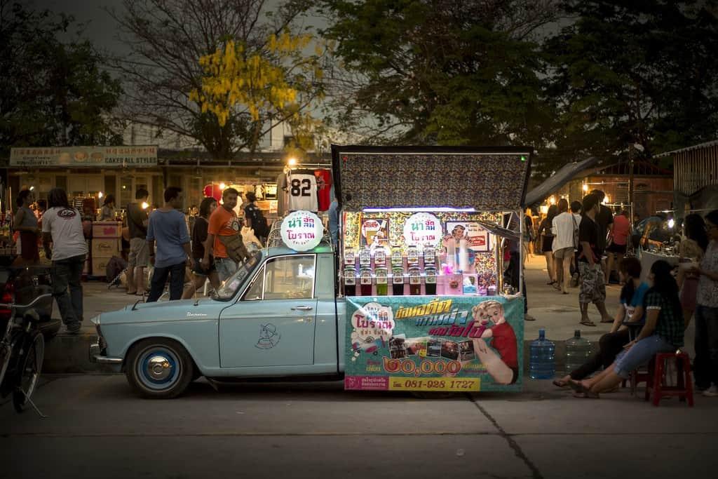 Talad Rot Fai flea market Bangkok - Copyright Lorraine Creaser