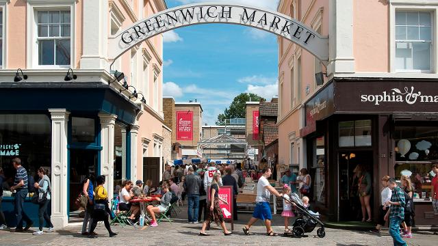 Entrance of the Greenwich Market