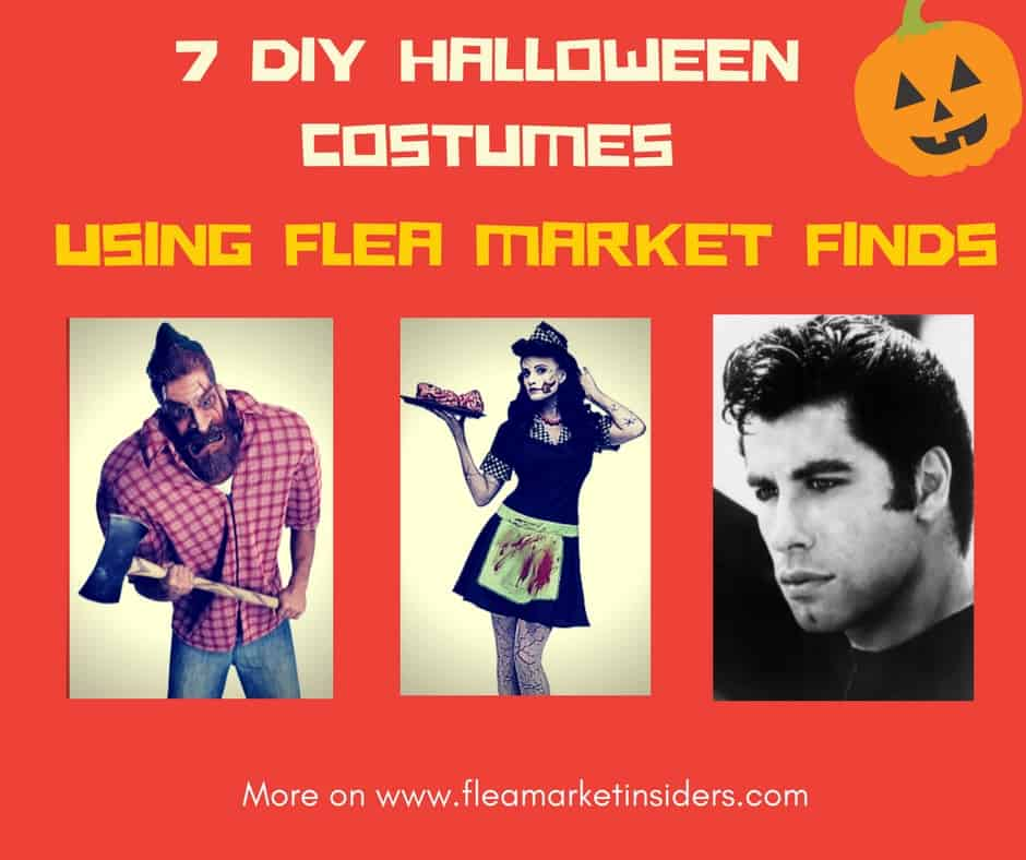 diy Halloween costumes flea market finds