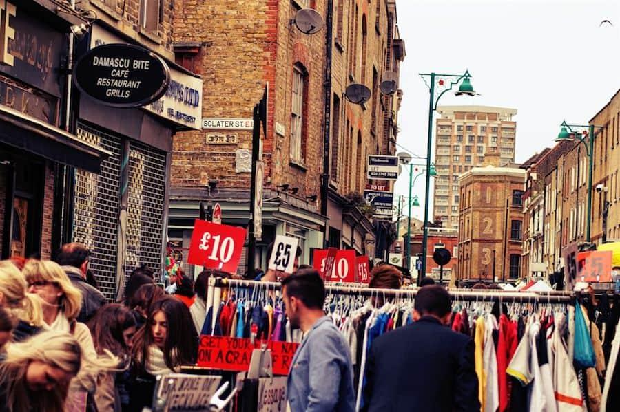 brick lane market londonbloggerde