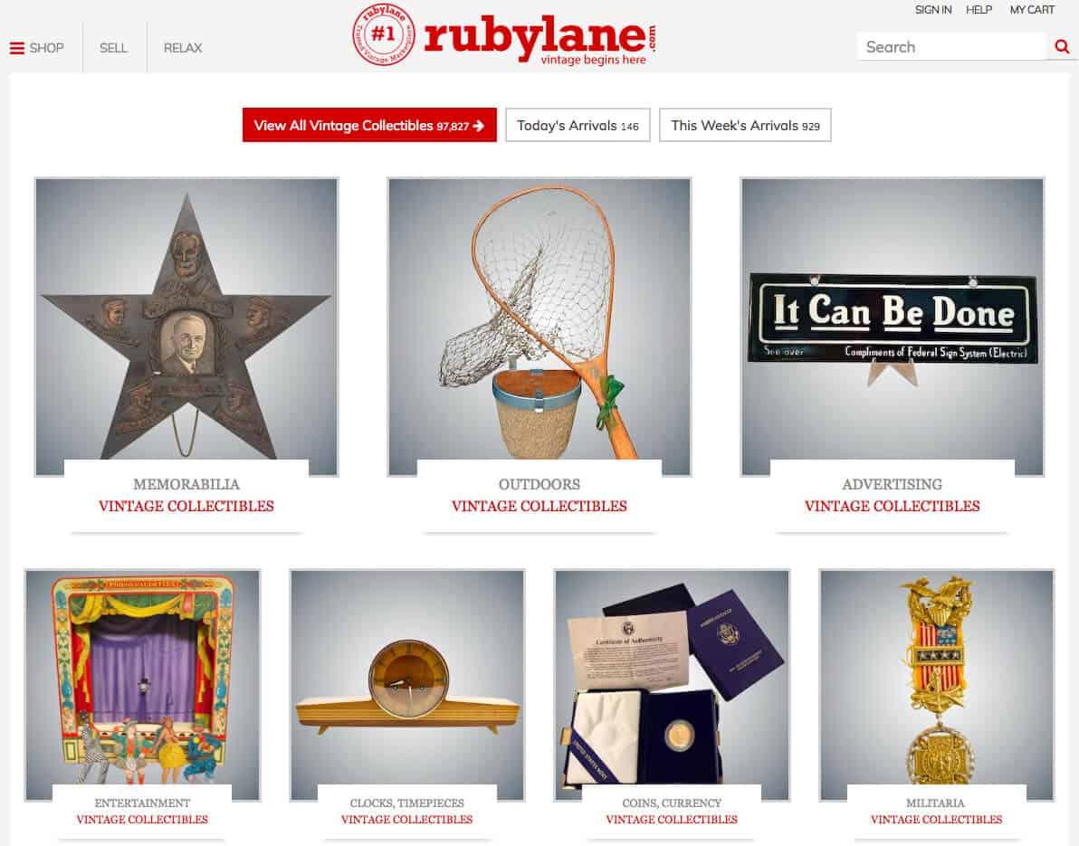 online shops vintage ruby lane