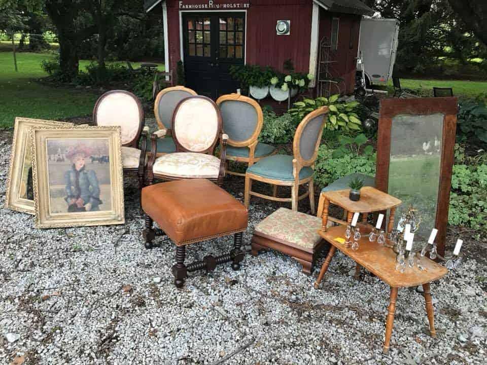 US 12 Heritage Trail Garage Sale © Farmhouse Reupholstery Design