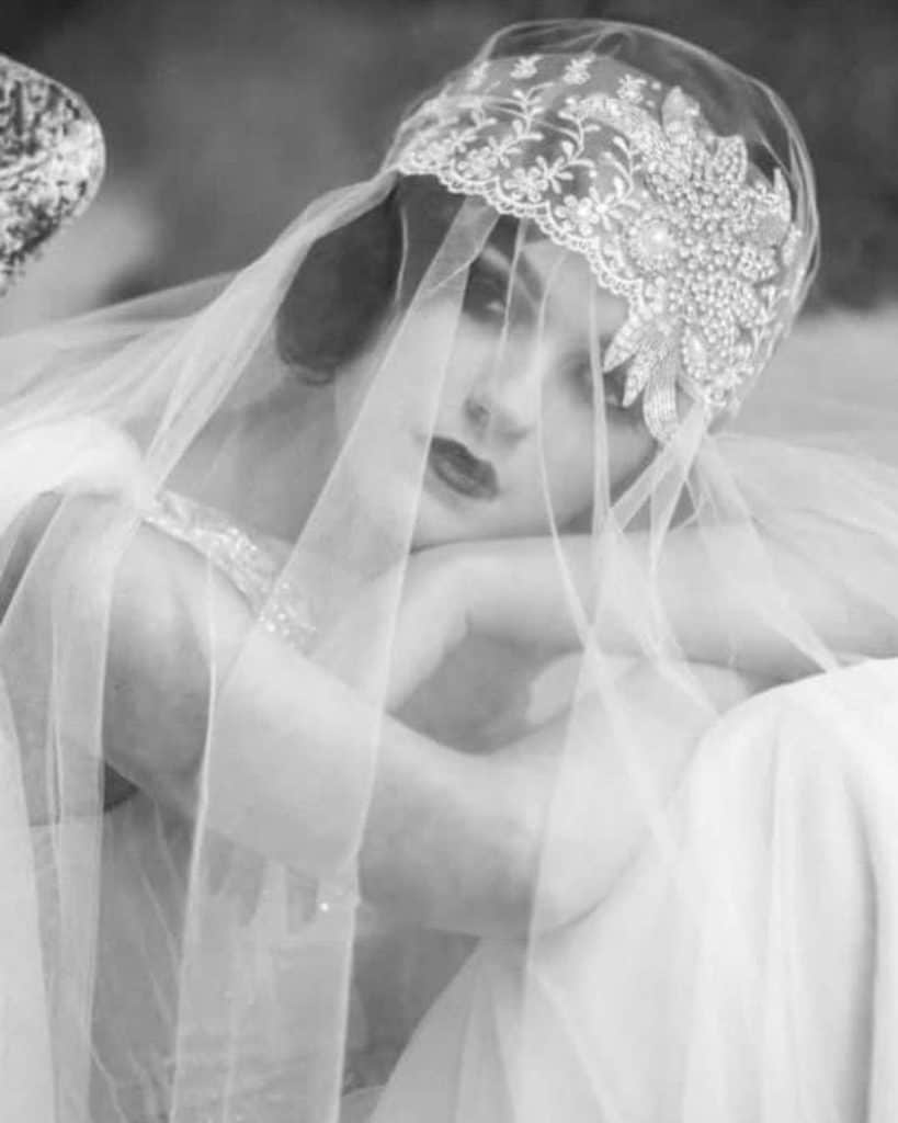 Edwardian Vintage Wedding Veil © Tess Harriss Designs