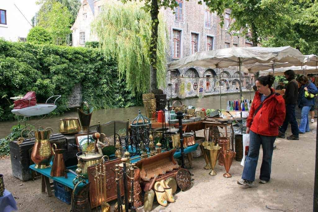 Dijver Flea Market A Best Flea In Europe © Brian Aslak