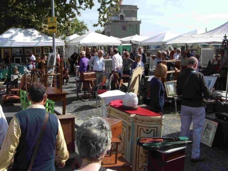 Mercatino di Ponte Milvio Rome Weekly Flea Market for Antiques In Europe