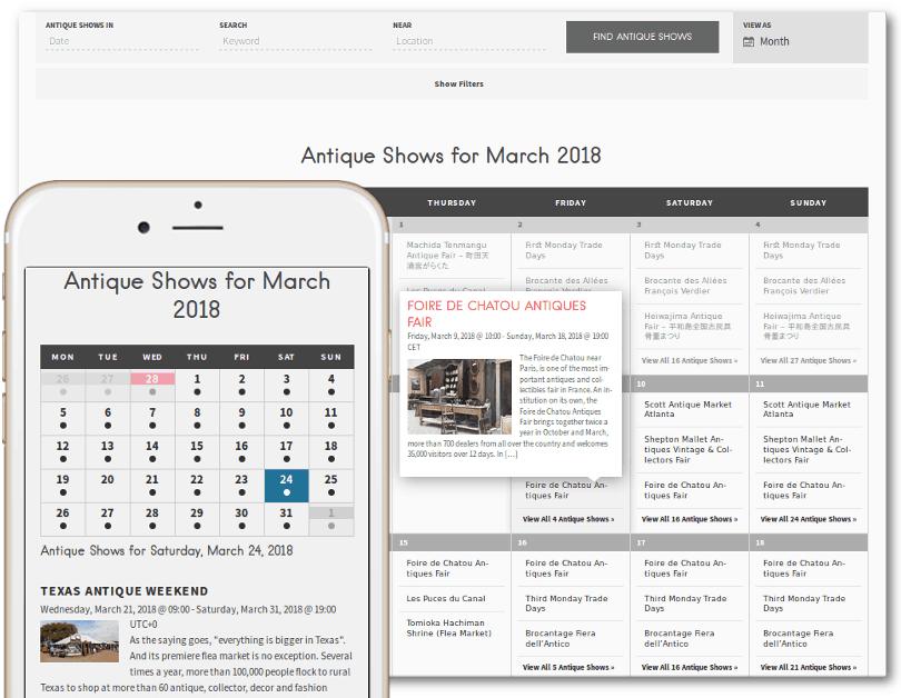 Fleamapket premium calendar