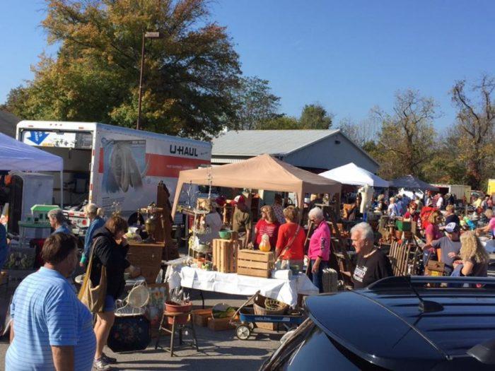 burlington antique show